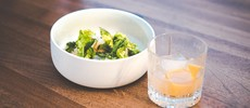 Dine restaurant salad food and drink pairing bayleaf bar cologne